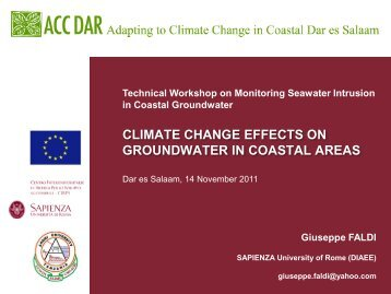 Workshop slides, G.Faldi - Adapting to Climate Change in Coastal ...