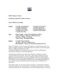 Public Meeting, September 6th, 2006 - City of Charlottetown