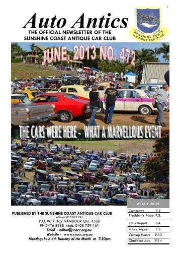Download/View July, 2013, Auto Antics.pdf - Sunshine Coast ...