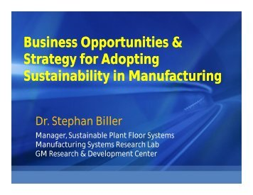 Business Opportunities & Strategy for Adopting Sustainability in ...