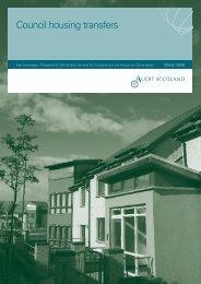Council housing transfers: Key messages - Audit Scotland