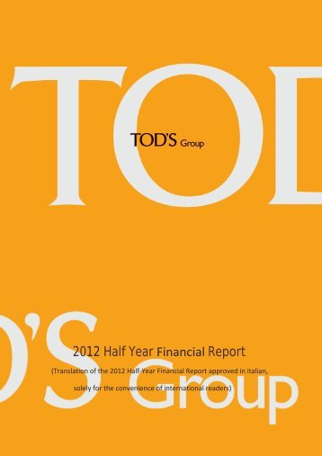 2012 Half Year Report - Tod's