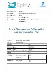 Dissemination, Collaboration and Communication Plan - Optimis