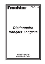 Dictionnaire français↔anglais - Franklin Electronic Publishers