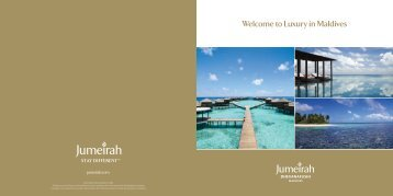 Welcome to Luxury in Maldives - Trauminsel Reisen GmbH