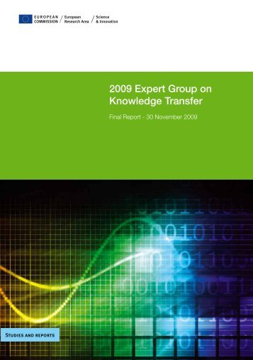 2009 Expert Group on Knowledge Transfer - European Commission ...