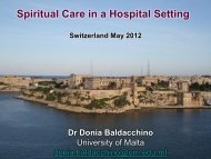 Spiritual care - European Conference on Religion, Spirituality and ...