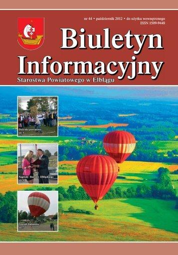 Biuletyn nr 44 - Starostwo Powiatowe w Elblągu