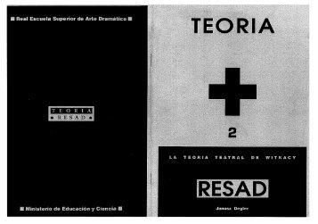 La Teoría teatral de Witkacy - Resad
