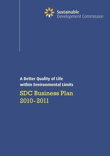 SDC Business Plan 2010-11 - Sustainable Development Commission