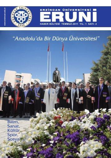 Eruni Bülten 2. Sayı - Erzincan Üniversitesi