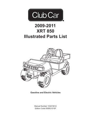 2010 2011 xrt 800 gas electric bennett golf cars 2009 2011 xrt 850 illustrated parts list bennett golf cars publicscrutiny Image collections