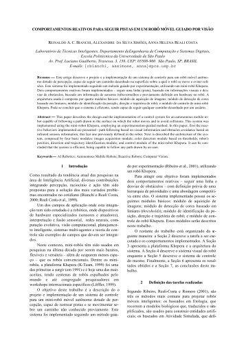 Comportamentos Reativos para Seguir Pistas em ... - ResearchGate