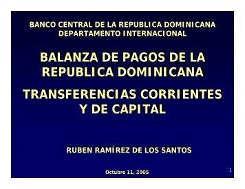 balanza de pagos de la republica dominicana transferencias ...
