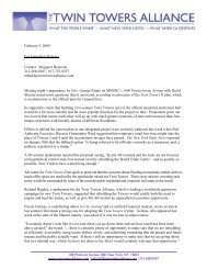 Press Release 2/5/09 - The Twin Towers Alliance