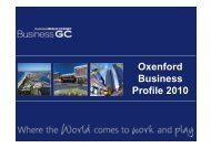 Oxenford Business Profile 2010 - Business Gold Coast