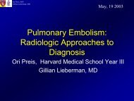 Pulmonary Embolism: Radiologic Approaches to Diagnosis