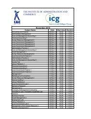 IAC Provisional Timetable November 2010