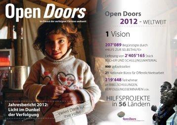 Projektbericht 2012 - Open Doors