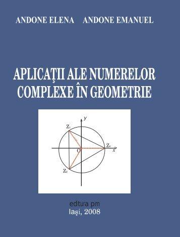 APLICA II ALE NUMERELOR COMPLEXE ÎN GEOMETRIE - PIM Copy