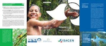 Plegable Desarrollo con responsabilidad - Isagen