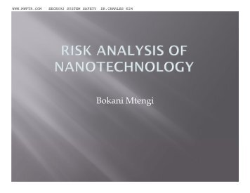 Risk Analysis of Nanotechnology - MWFTR