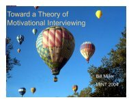 Toward a Theory of Motivational Interviewing Presentation