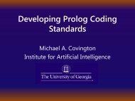 Developing Prolog Coding Standards - Artificial Intelligence Center ...