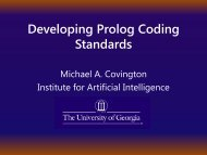Developing Prolog Coding Standards - Artificial Intelligence Center ...