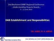 DAB Establishment and Responsibilities - Dispute Resolution Board ...