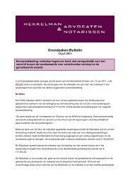 Taxatie en exoneratiebeding - Hekkelman Advocaten & Notarissen