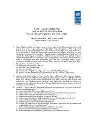 Risalah Lokakarya Hibah Kecil Program Bantuan ... - UNDP