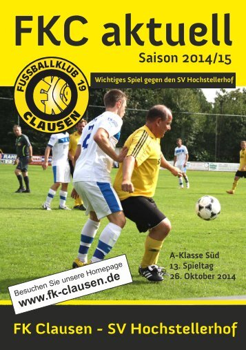 FKC Aktuell - 13. Spieltag - Saison 2014/2015