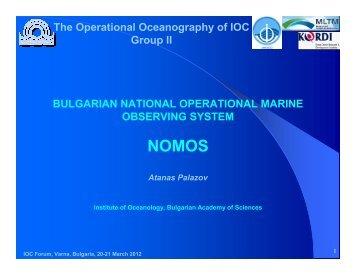 BULGARIAN NATIONAL OPERATIONAL MARINE OBSERVING ...