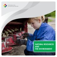 NATURAL RESOURCES AND THE ENVIRONMENT