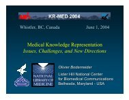 Medical Knowledge Representation Issues, Challenges, and New ...