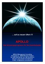 Das APOLLO Programm für die Schulung der Servicemitarbeiter von ...