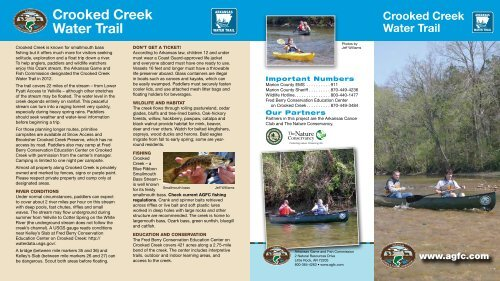 Crooked Creek Water Trail - Arkansas Game and Fish Commission
