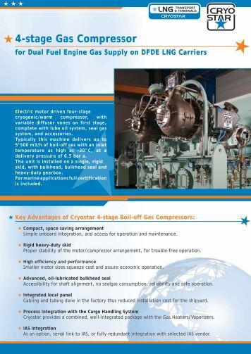 4-stage Gas Compressor - Cryostar
