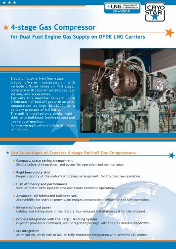 4-stage Gas Compressor - Cryostar