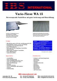 Vario-Fliese WA 15 - IBS international