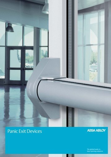 NEW! Panic Exit Devices for safe evacuations - ASSA ABLOY