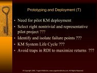 KM Development & Deployment / CKO Roles & Responsibilities