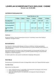lehrplan schwerpunktfach biologie / chemie - Pflumm.name