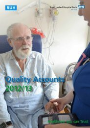 Quality Accounts 2012/13 - Royal United Hospital Bath NHS Trust