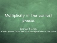 Multiplicity in the earliest phases