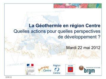 La Géothermie en région Centre - Énergies-Centre