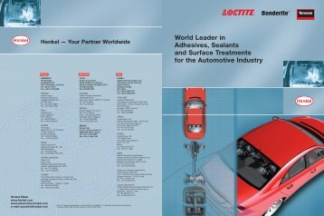 World Leader In Adhesives, Sealants And Surface ... - Loctite.ph