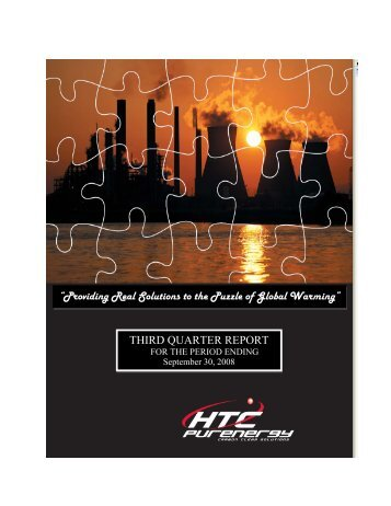HTC Hydrogen Technologies Corp - HTC Purenergy