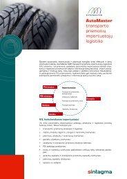 AutoMaster transporto priemonių importuotojų logistika - Sintagma